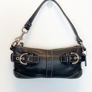 Coach mini pouchette leather handbag bag